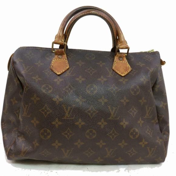 Louis Vuitton Handbags - Auth Louis Vuitton Speedy 30 Hand Bag #1406L13